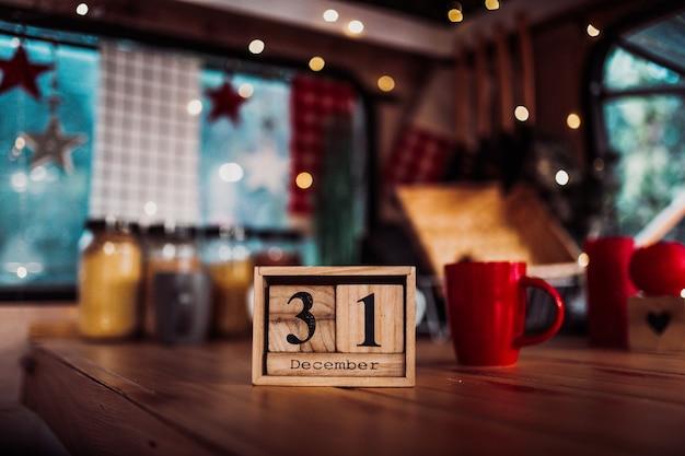 31 december. dag 31 van de maand december. nieuwjaar.
