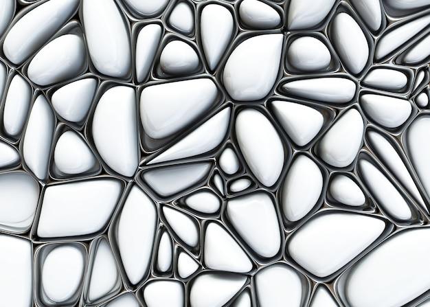 3d abstract geëxtrudeerde voronoi vormen achtergrond
