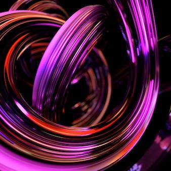 3d abstract maken. creatieve glanzende vorm met realistische reflecties.