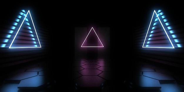 3d abstracte achtergrond met neonlichten. neontunnel. .ruimte constructie. .3d illustratie33