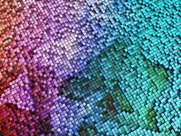 3d abstracte achtergrond van het extruderen van blokken