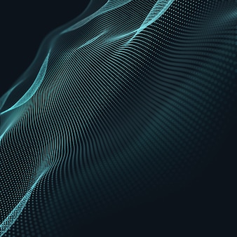 3d abstracte blauwe geometrische achtergrond. verbindingsstructuur. wetenschap achtergrond. futuristische technologie