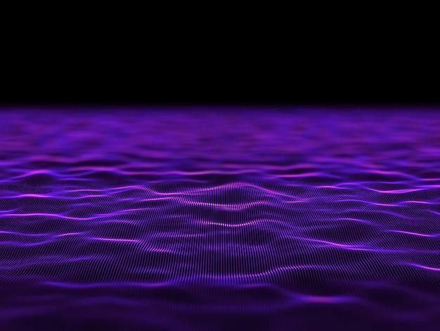 3d abstracte digitale achtergrond met vloeiende cyber stippen