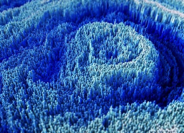 3d abstracte futuristische achtergrond met landschap van het uitdrijven van kubussen