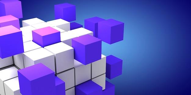 3d abstracte kubussen als achtergrond. 3d illustratie