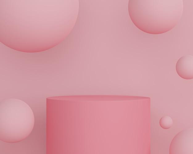 3d-abstracte minimale geometrische vormen. glanzend luxe podium voor uw ontwerp. modeshow podium, voetstuk, winkelpui in kleurrijk thema.