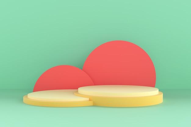 3d abstracte vorm en geometrie, strand kleur fase achtergrond.