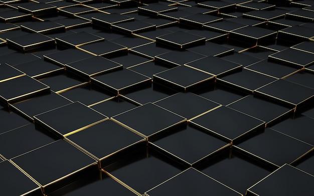 3d-abstracte zwarte en gouden metalen textuur achtergrond
