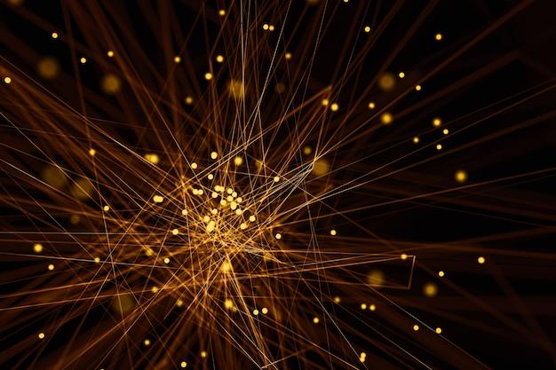 3d achtergrond van het illustratie abstracte netwerk.