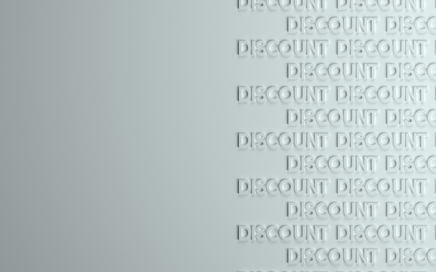 3d-achtergrond van korting of verkoop