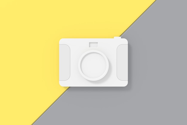 3d achtergrondontwerp met cameramodel.