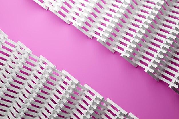 3d-afbeelding patroon in geometrische sierstijl