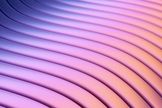 3d-afbeelding rijen neon textiellijn.