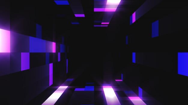 3d-afbeelding van helder knipperende tunnelbeelden voor uw evenement, concert, titel, presentatie, site, dvd, muziekvideo's, videokunst, vakantieshow, feest