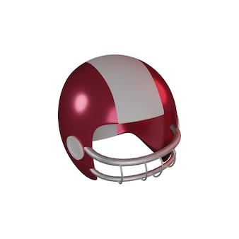 3d american football-helm op witte achtergrond