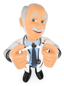 3d arts die een sigaret breekt. niet roken