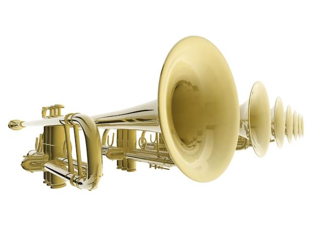 3d bellen van trompetten