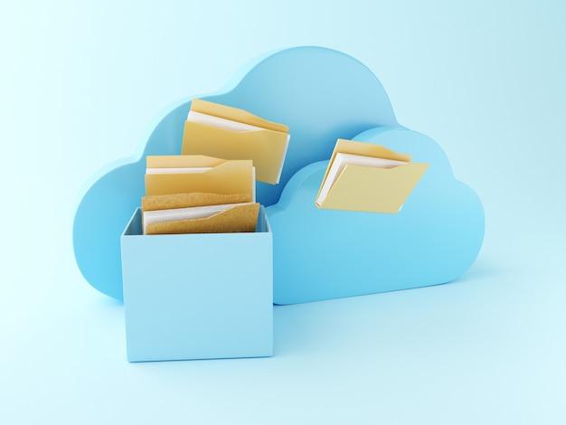 3d bestandsopslag in de cloud.