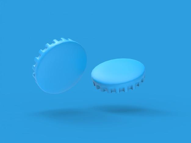 3d-bier cap rendering illustratie mockup illustratie