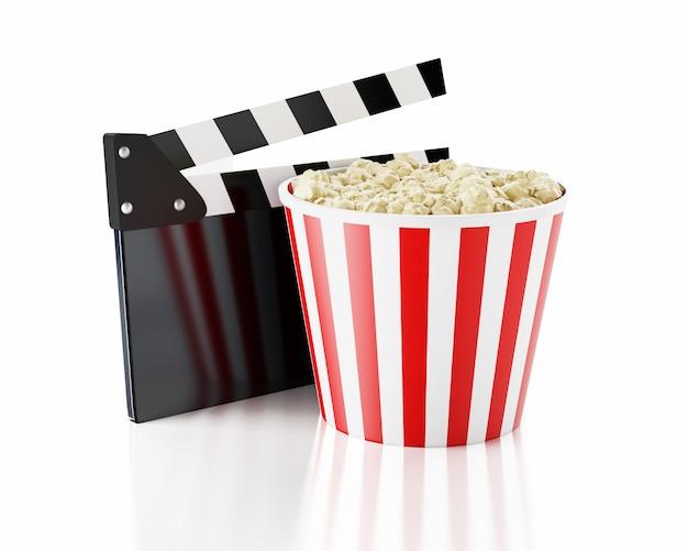 3d bioscoop klepel en popcorn