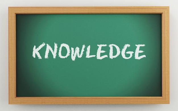 3d bord met kennistekst