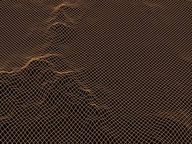 3d bruin topografisch bergraster