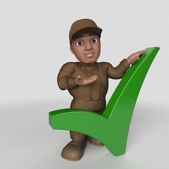 3d cartoon delivery driver