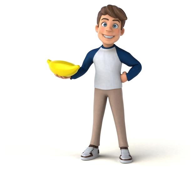 3d cartoon karakter leuke tiener