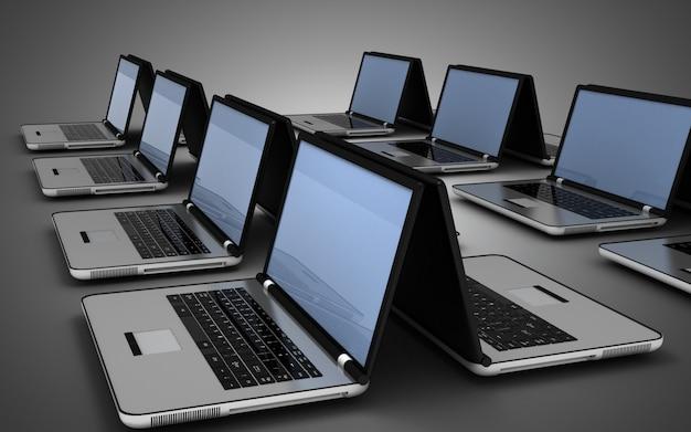 3d computernetwerk concept. 3d-afbeelding