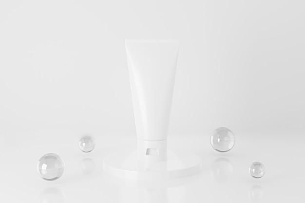3d cosmetische buis met geïsoleerd knikkers