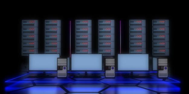 3d datacenter concept