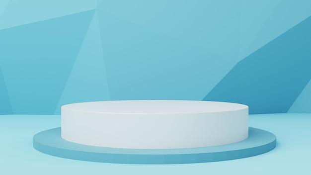 3d de cilindervertoning van het mockuppodium met abstracte 3d illustratie als achtergrond