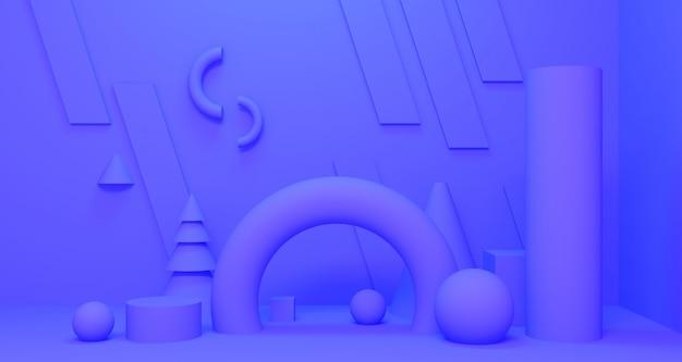 3d-diepte en realisme achtergrond. 3d-weergave