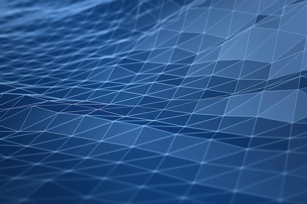3d digitaal van de de gegevensverbinding van de landschapsberg de illustratieconcept van de meetkunde
