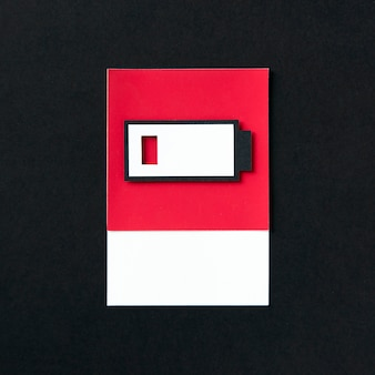 3d document ambachtskunst van een het laden batterij