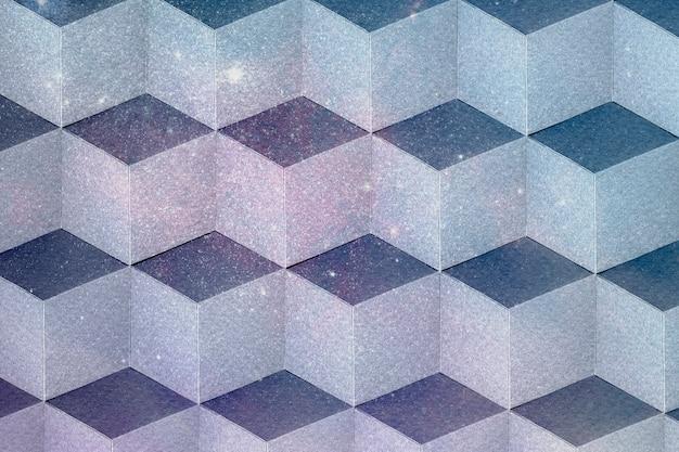3d doffe pastel papier ambachtelijke kubieke patroon achtergrond