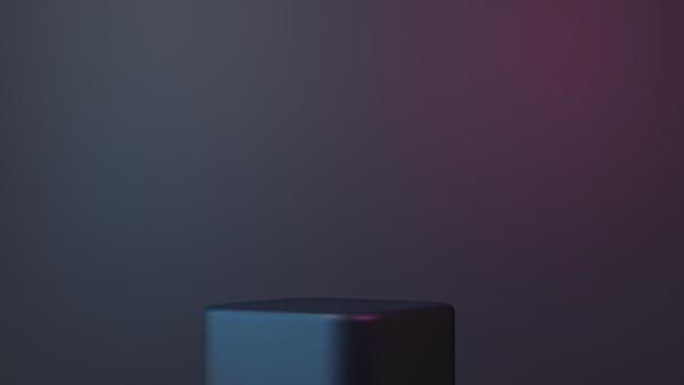 3d eenvoudig elegant podium op zwarte achtergrond