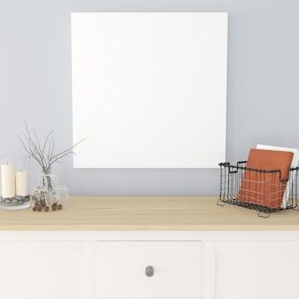 3d eigentijds woonkamerinterieur en modern meubilair