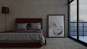Gordijn slaapkamer vectoren fotos en psd bestanden gratis download