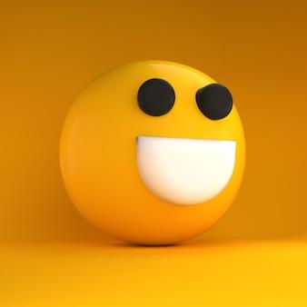 3d emoji blij