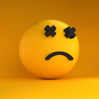 3d-emoji verdrietig