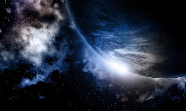 3d fictieve ruimteachtergrond