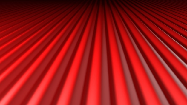 3d geef abstracte achtergrond rode golven terug die in duisternis vertrekken