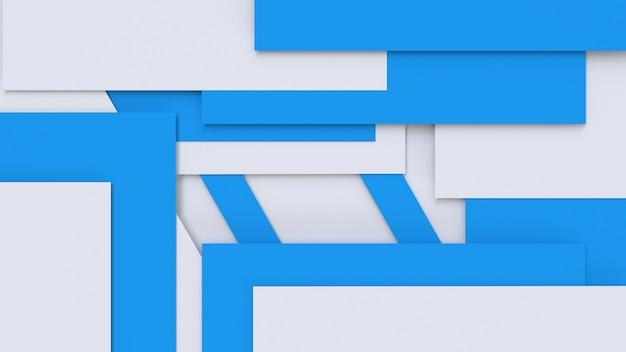 3d geef abstracte blauwe witte geometrische achtergrond terug