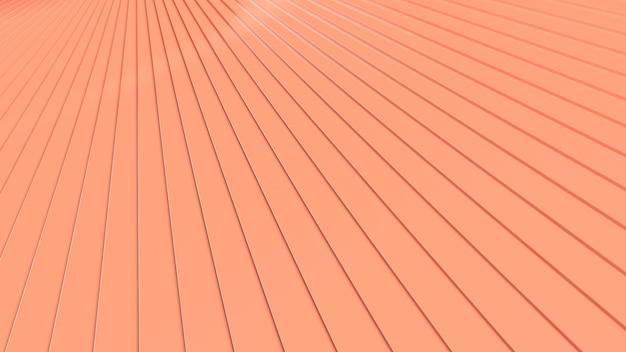 3d geef abstracte warme oranje strepenachtergrond terug