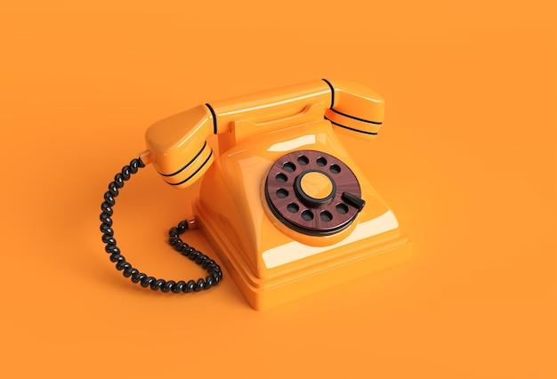 3d geef concept de oude illustratie van het de kunstontwerp van de telefoon 3d terug.