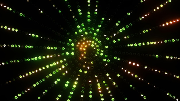 3d geef groene cirkel geleide vj-achtergrond terug