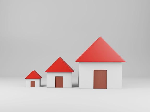 3d geef het concept van huisonroerende goederen terug