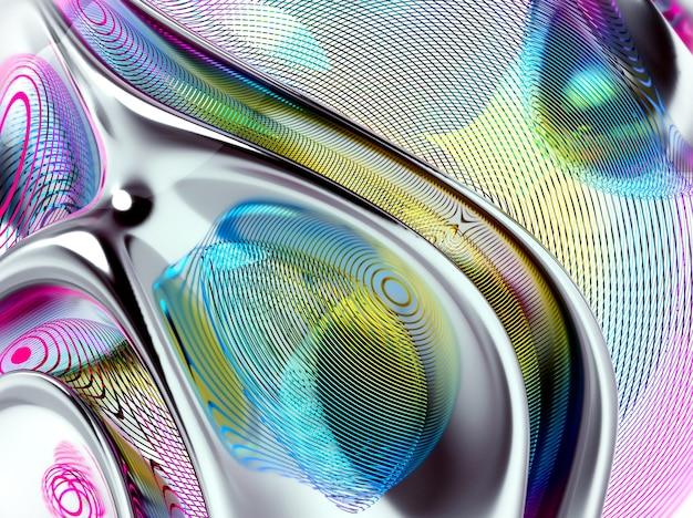 3d geef van abstracte kunst terug