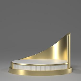 3d geef van gouden podium terug